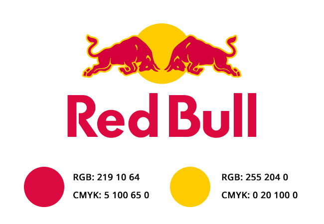 colores del logotipo de red bull